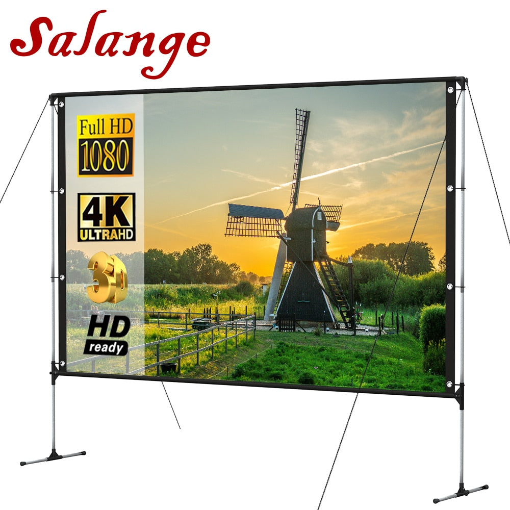Salange Outdoor Projector Screen 100 in With Stand