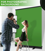 Load image into Gallery viewer, Collapsible Chromakey Pull-up Style Wrinkle-resistant Green Screen