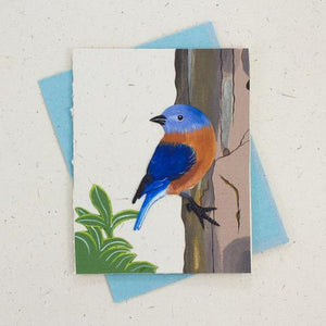 Greeting Card - Pooh Paper Birds Embossed
