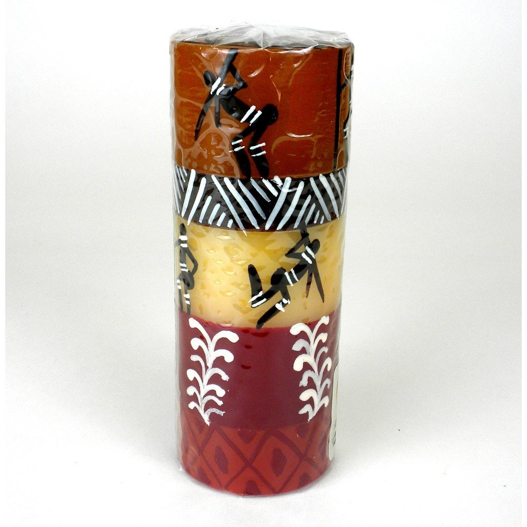 Hand-Painted Tall Pillar Candle - Damisi Design