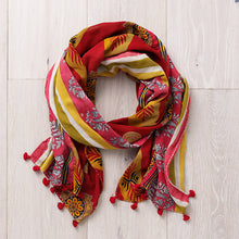 Load image into Gallery viewer, Warm Tones Kantha Scarf