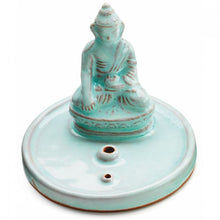 Load image into Gallery viewer, INCENSE BURNER: Celadon Buddha