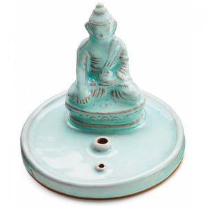 INCENSE BURNER: Celadon Buddha
