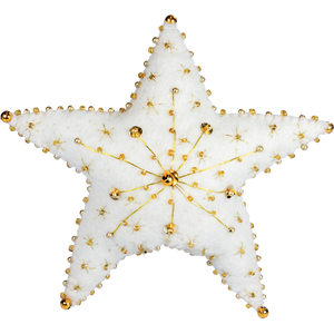 Felt Golden Star Tree Topper