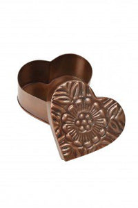 Metal Heart Box (Floral)