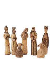 Hand-Carved Wooden Nativity