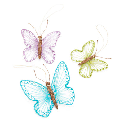 ABACA BUTTERFLIES SET OF 3