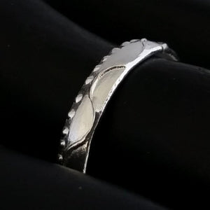 Ocean Themed Band Toe Rings - Silver