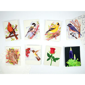 Greeting Card - Pooh Paper Birds Watercolor