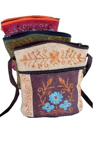 Embroidered Passport - Bag Cotton