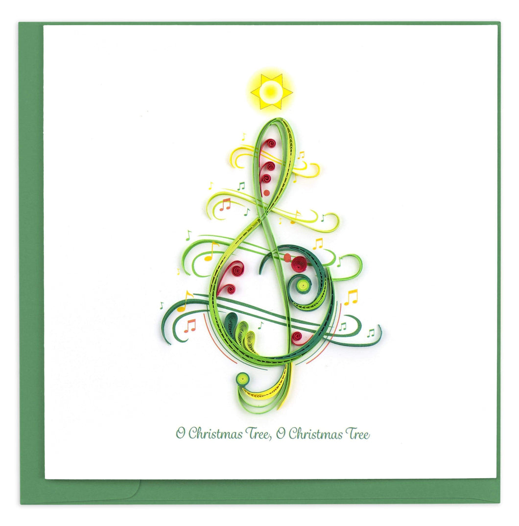 Quilled Christmas Song Greeting Card