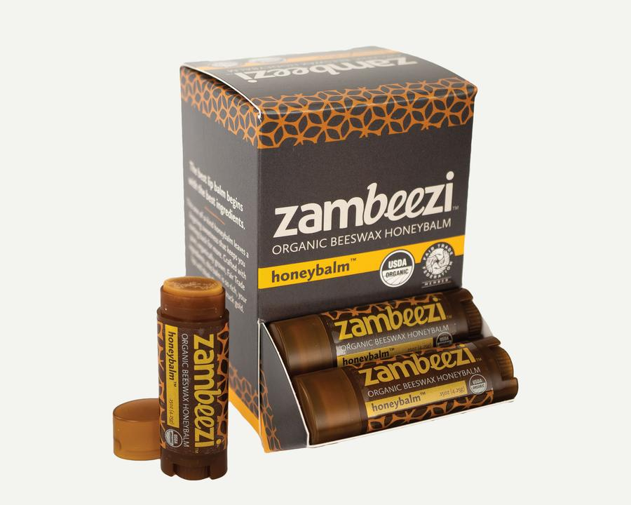 Zambeezi Organic Beeswax Lip Balm Honey balm