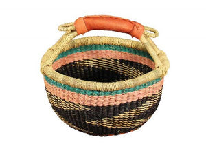 G-150 Large Mini Basket w/Leather Handle