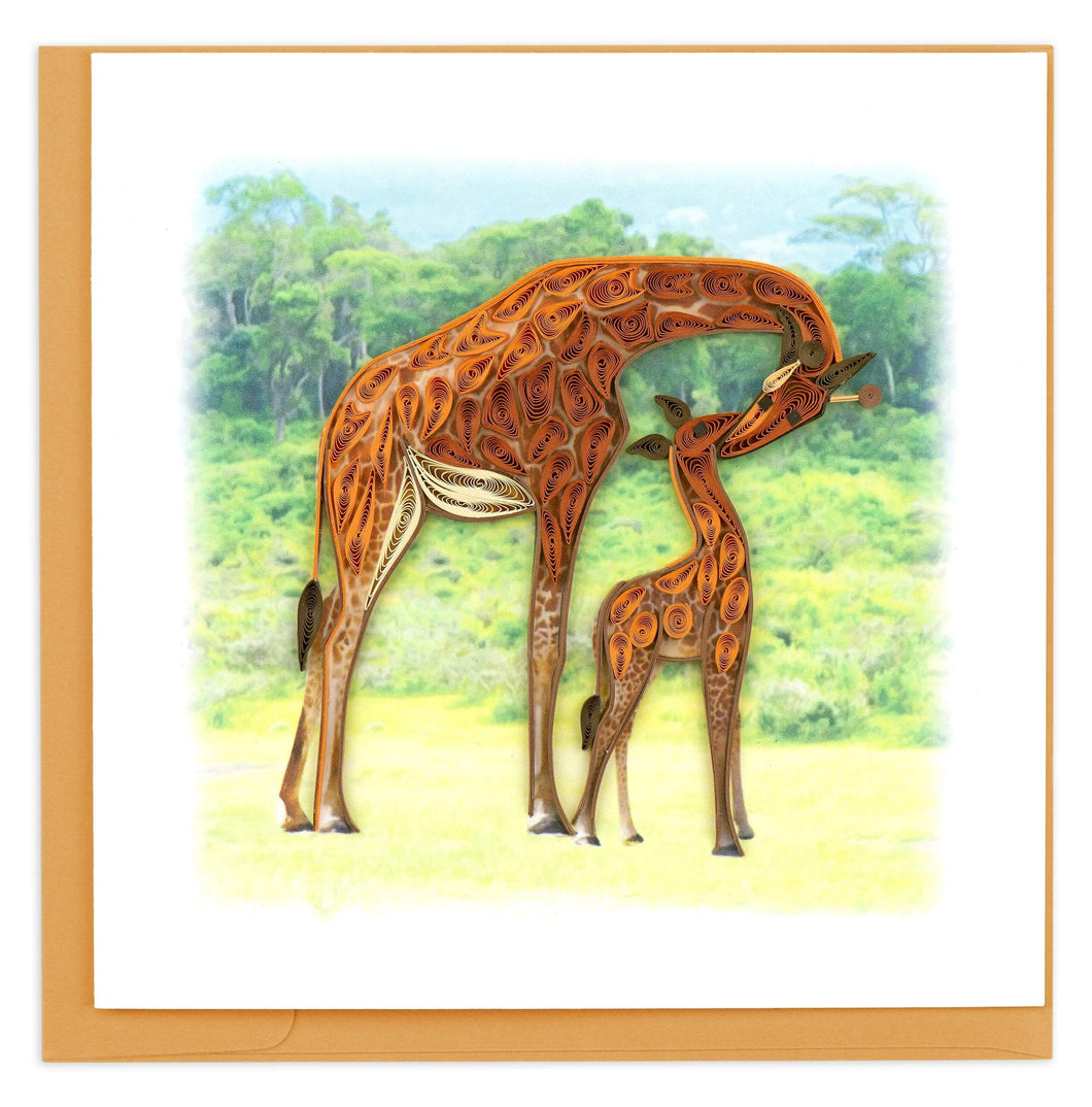 Quilled Giraffe Card