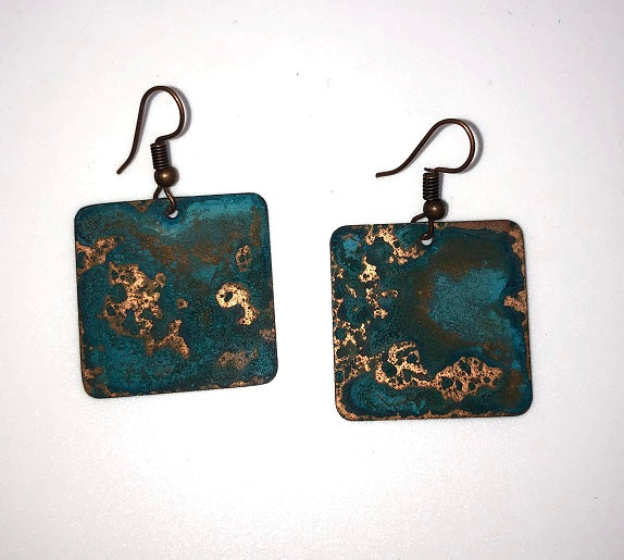 Copper Square Earring