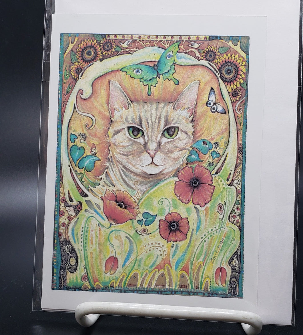 Liza Paizis 'Poppy Cat' Card