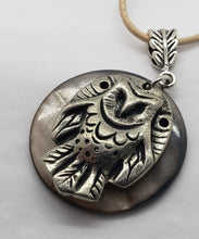 Load image into Gallery viewer, Liza Paizis Owl With Mother of Pearl Pendant Necklace