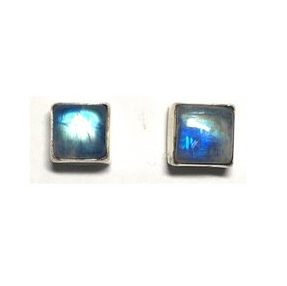 Sterling Earring Stud -square