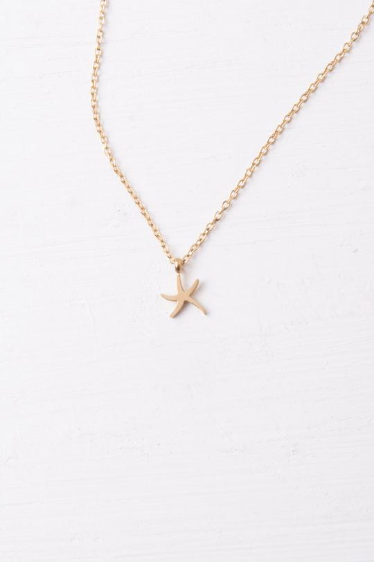 Mae Gold Starfish Necklace