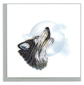 Quilled Wolf Greeting Card