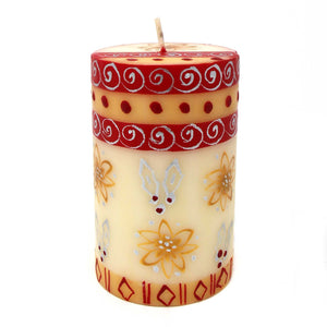 Christmas Hand-Painted Pillar Candle