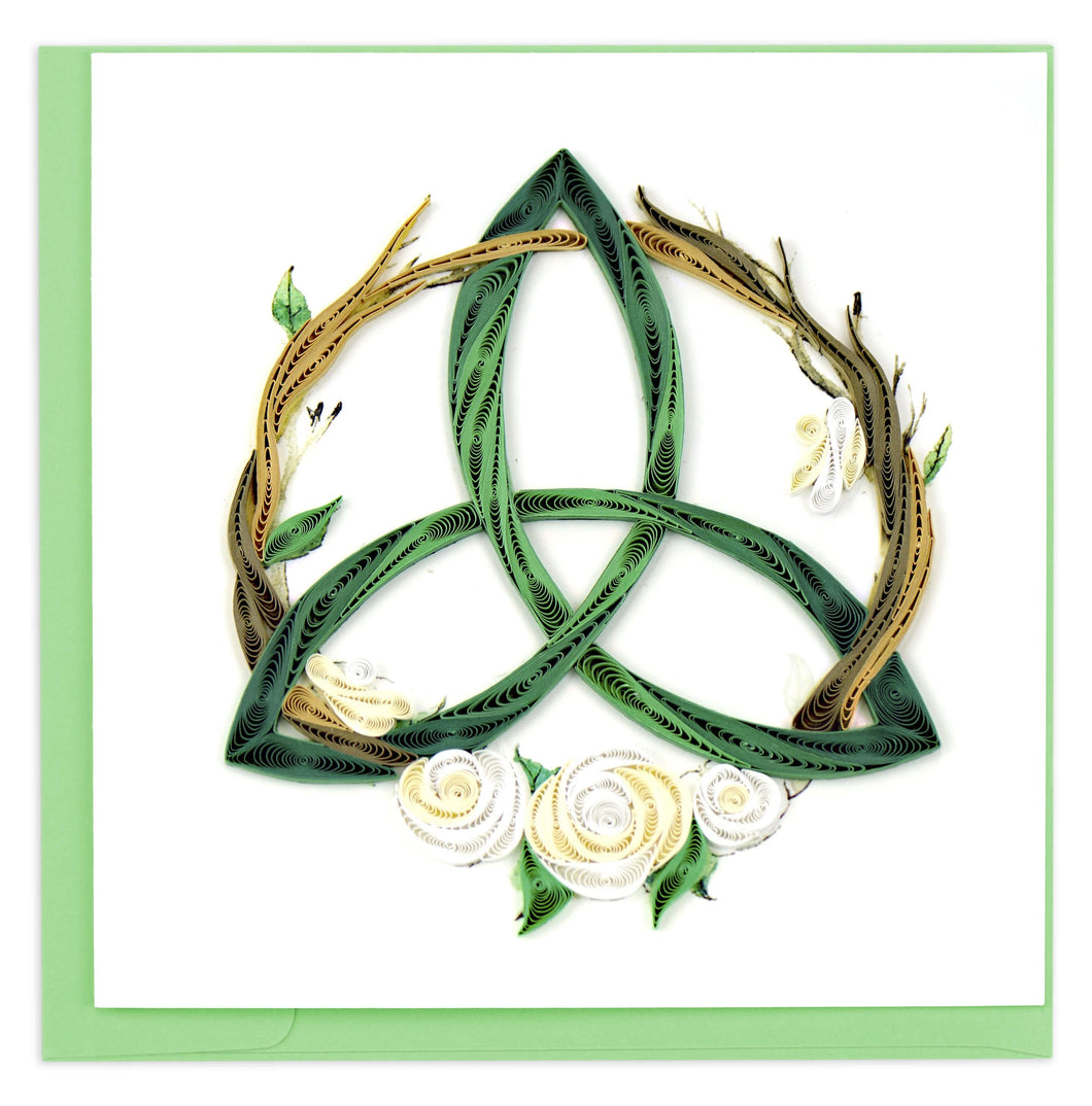 Quilled Celtic Trinity Knot Card