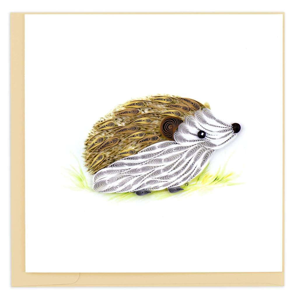 Quilled Hedgehog Card