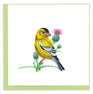 Quilled Eastern Goldfinch Card