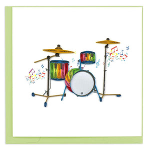 Quilled Drum Set Greeting Card
