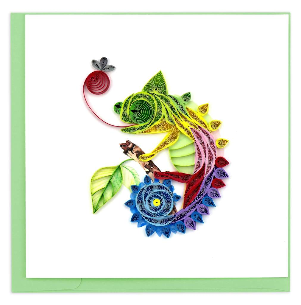 Quilled Chameleon Card
