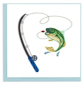 Quilled Gone Fishing Card