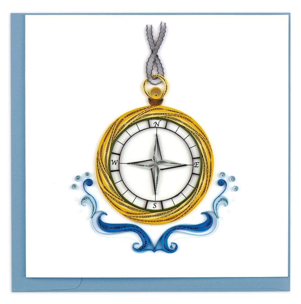Quilled Nautical Compass Greeting Card