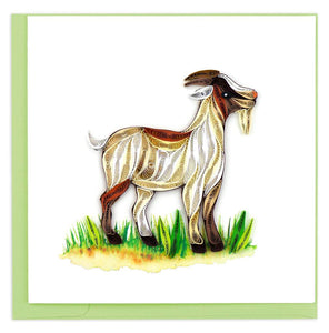 Quilled Farm Goat Card