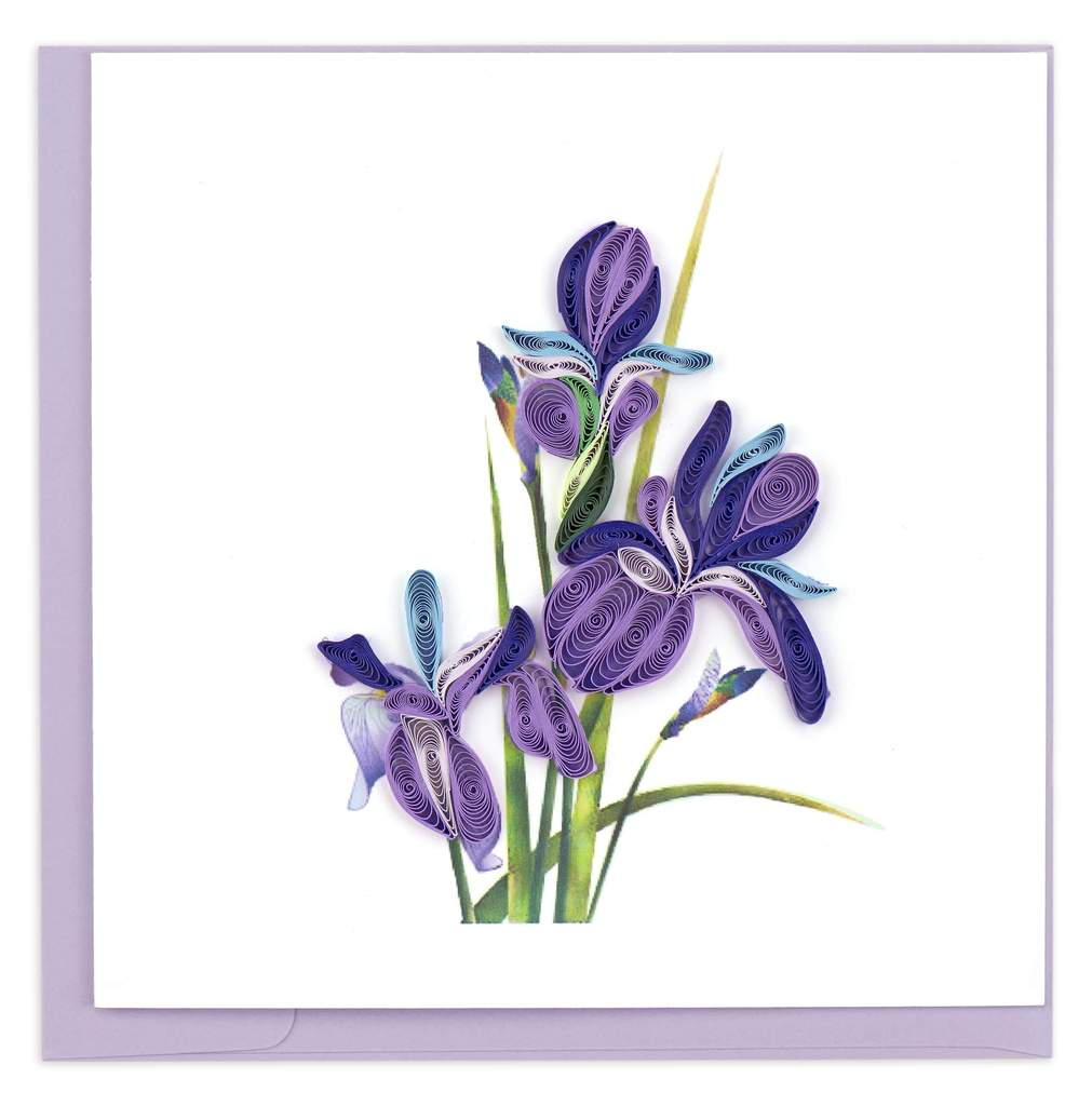 Quilled Iris Greeting Card