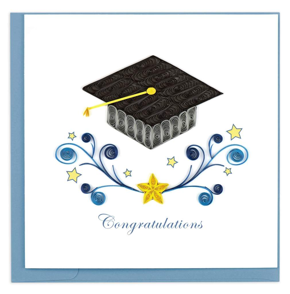 Quilled Graduation Congrats Card