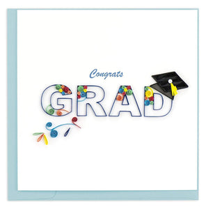 Quilled Congrats Grad Swirl