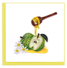 Load image into Gallery viewer, Quilled Rosh Hashanah Apples & Honey Card