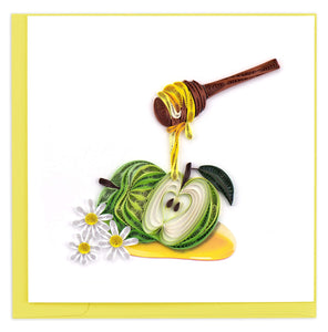Quilled Rosh Hashanah Apples & Honey Card