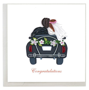 Quilled Just Married Card