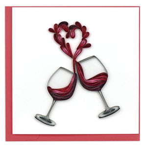 Quilled Toast to Love Card