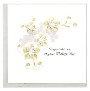 Quilled Floral Wedding Card
