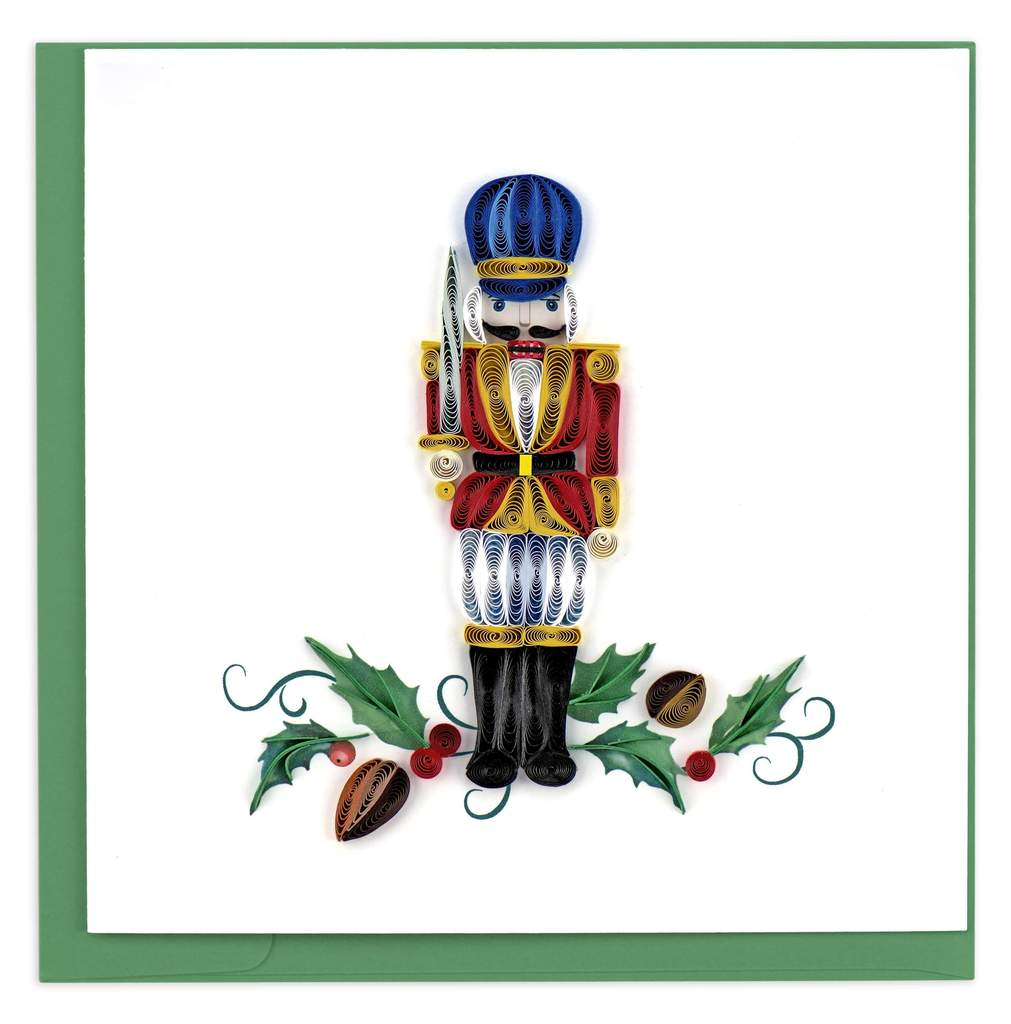 Quilled Nutcracker Christmas Card