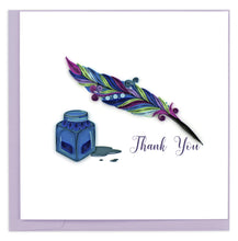Load image into Gallery viewer, Quilled Quill & Ink Thank You Card