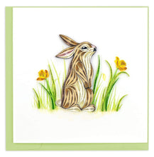 Load image into Gallery viewer, Quilled Rabbit Card