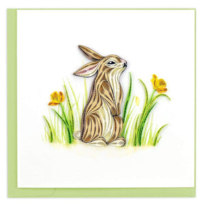 Quilled Rabbit Card