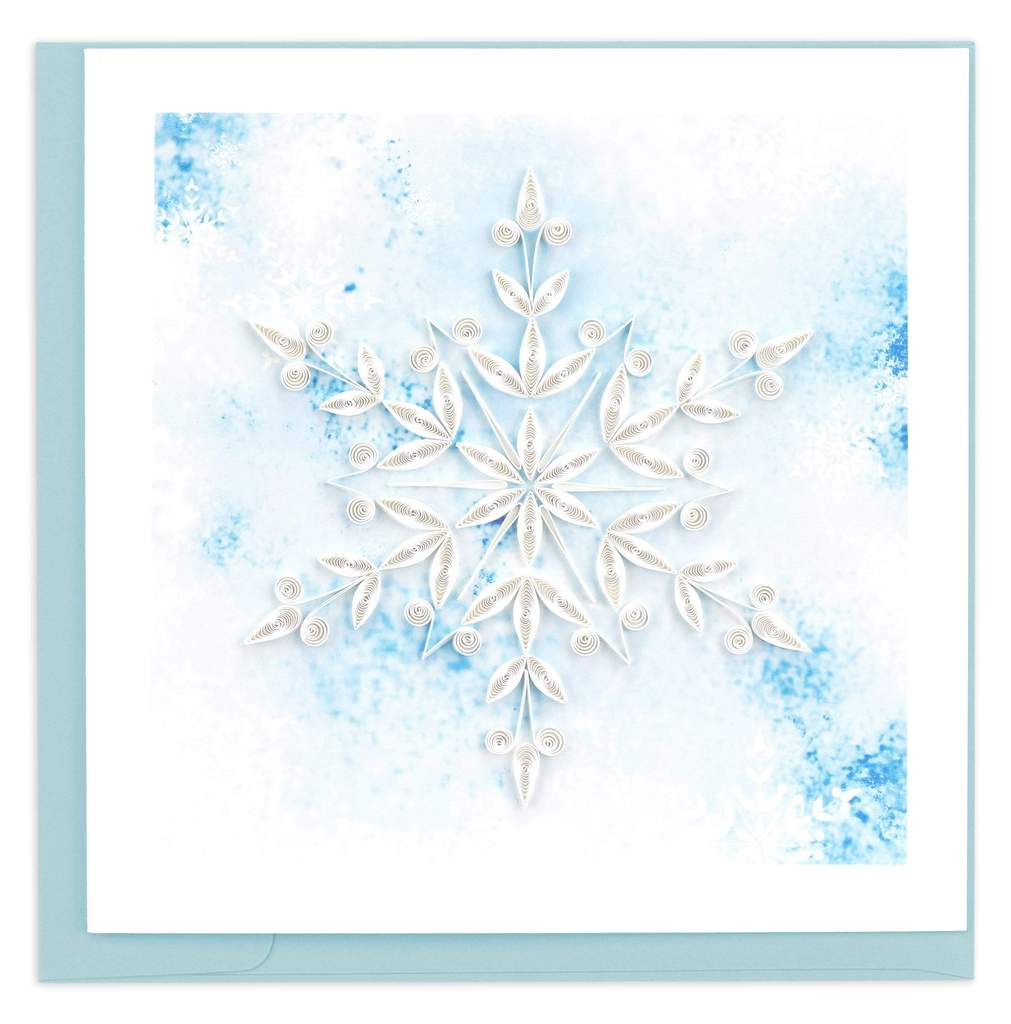Quilled Snowflake Holiday Card