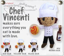 Load image into Gallery viewer, Chef Vincenti Boy & Girl String Doll