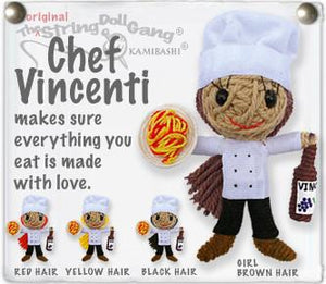 Chef Vincenti Boy & Girl String Doll