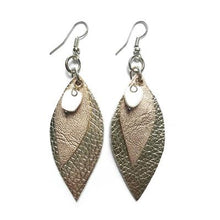 Load image into Gallery viewer, Metallic Leaf Earrings