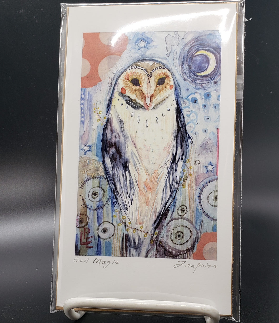 Liza Paizis 'Owl Magic' Print